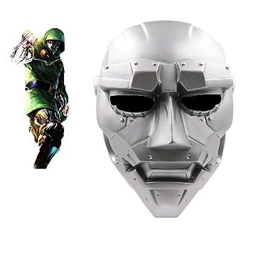 Dr Doom Mask Skull Cosplay Fantastic Four Demon Victor von Doom Metal Helmet Face Prop PVC