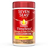 Seven Seas Simply Timeless Cod Liver Oil Capsules, 120-Count