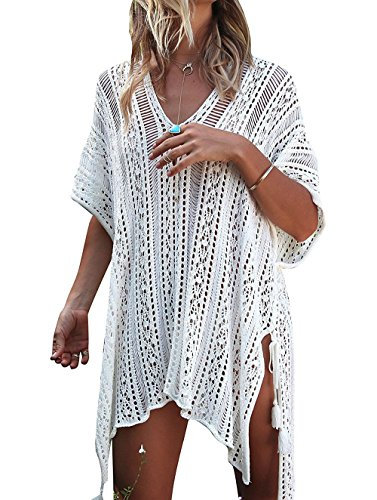 HARHAY Women's Summer Swimsuit Bikini Beach Swimwear Cover up Off White