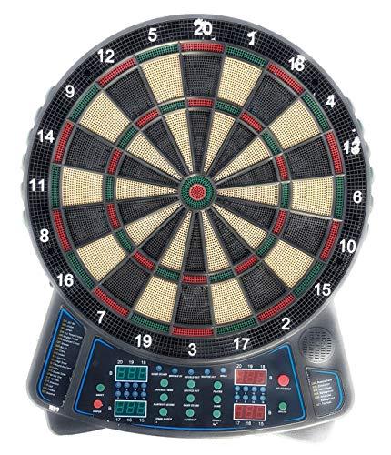 Best Sport & Freizeit GmbH Elektrische Dartscheibe 159 Spiele 4 Displays 12 Pfeile 16 Spieler Elektronisch Dartspiel Darts