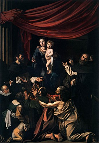 Gifts Delight Laminated 19x27 Poster Michelangelo Merisi da Caravaggio - Madonna del Rosario