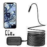 Zacro WiFi Endoskopkamera HD Brennweite mit 8 Einstellbaren Helligkeit LEDs + 3X Zoom + 2.0 Megapixel, Endoskop Wasserdicht Inspektionskamera für iOS Android Smartphones,Tablets, 5M
