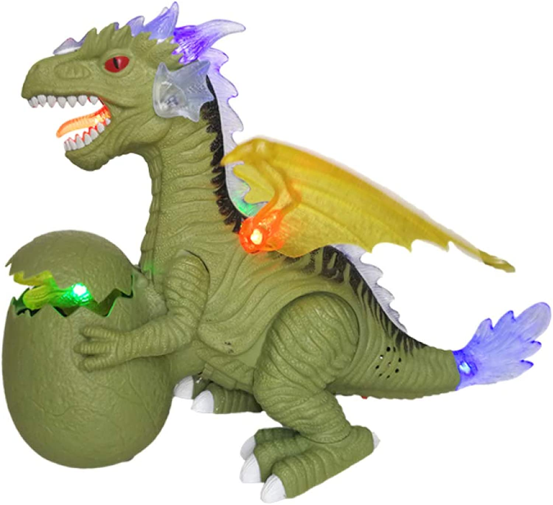 venta caliente Gikmhyb Dinosaurio Infantil Juguete Iluminación Eléctrica Simulación Simulación Simulación Animal Modelo Niño Regalo De Cumpleaños,verde  marca