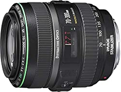 Image stabilised lens for Canon SLRs and DSLRs with EF lens mounts; Filter size: 58 mm Focusing modes: ultrasonic motor (USM) automatic, manual Closest focusing distance: 140 cm / 56 inches Comes with one year manufacturer's guarantee