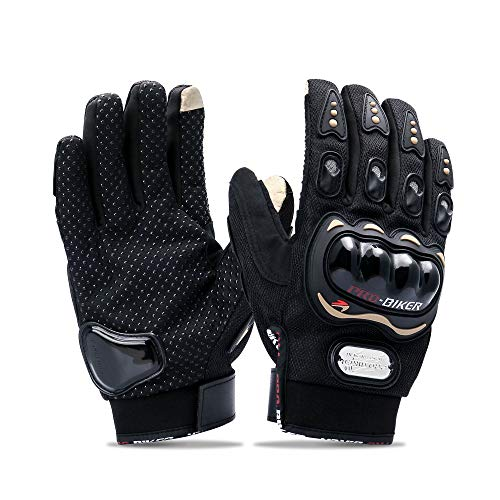 Touch screen motorcycle gloves Motorbike Gloves for BMX ATV MTB Riding, Road Racing, Cycling, Climbing, Motocross etc (MCS-01C, XL)