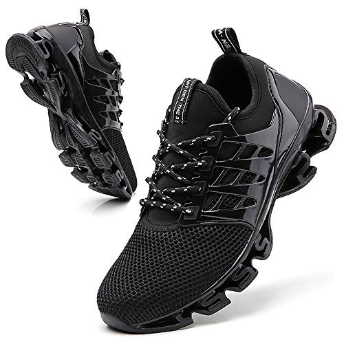 Black Men Casual Sport Tennis Shoes Fashion Mens Comfortable Size 8.5 Running Shoes Youth Boys mesh Cross Trainers Walking Shoes Gym Workout Shoes