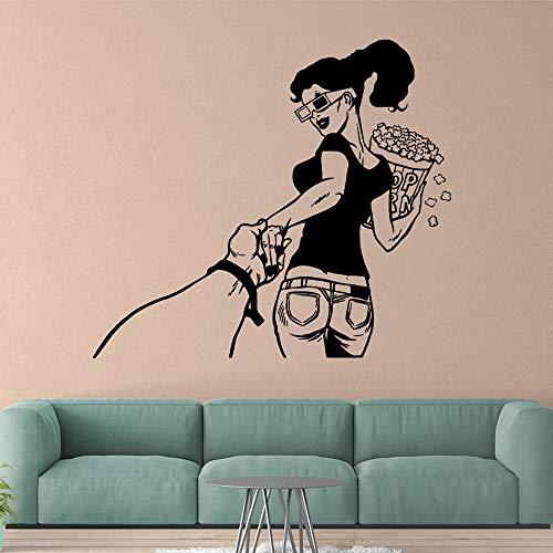 mlpnko Spaß Mädchen Wandaufkleber Persönlichkeit Kreative Wohnzimmer Schlafzimmer Wandaufkleber Wasserdicht 57x63cm