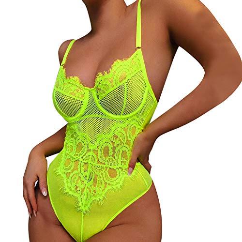 Why Choose Kenvina 🔥🔥 Women Sexy Lingerie Sleepwear Underwear Lace One Piece Underwear Green