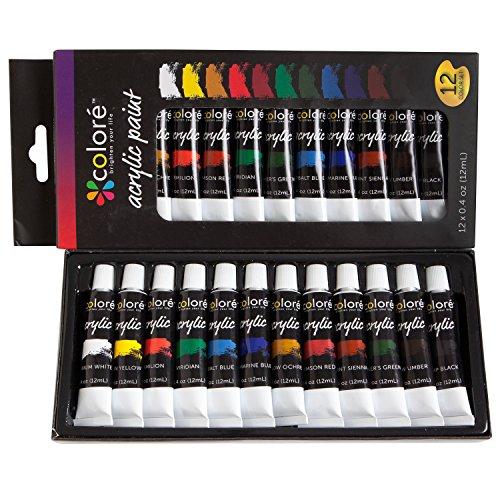 Colore Acrylic Paint Set, Set of 12