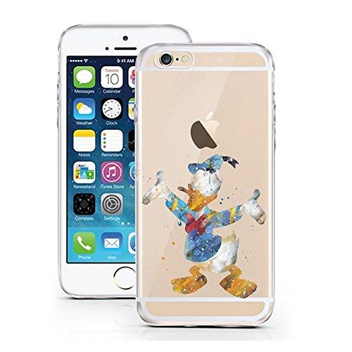 Handyhülle AQUARELL Disney kompatibel für iPhone 11 Ente Donald Duck Aquarell Schutz Hülle Hülle Bumper transparent r& um Schutz Cartoon M3