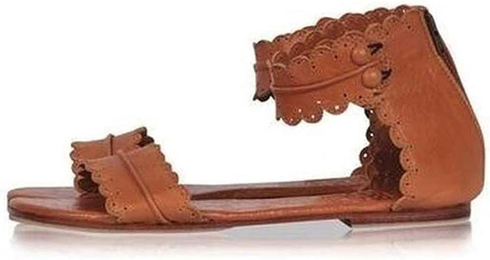 MayBest Womens Summer Flat Sandals Cute Open Toe Beach Shoes Ank