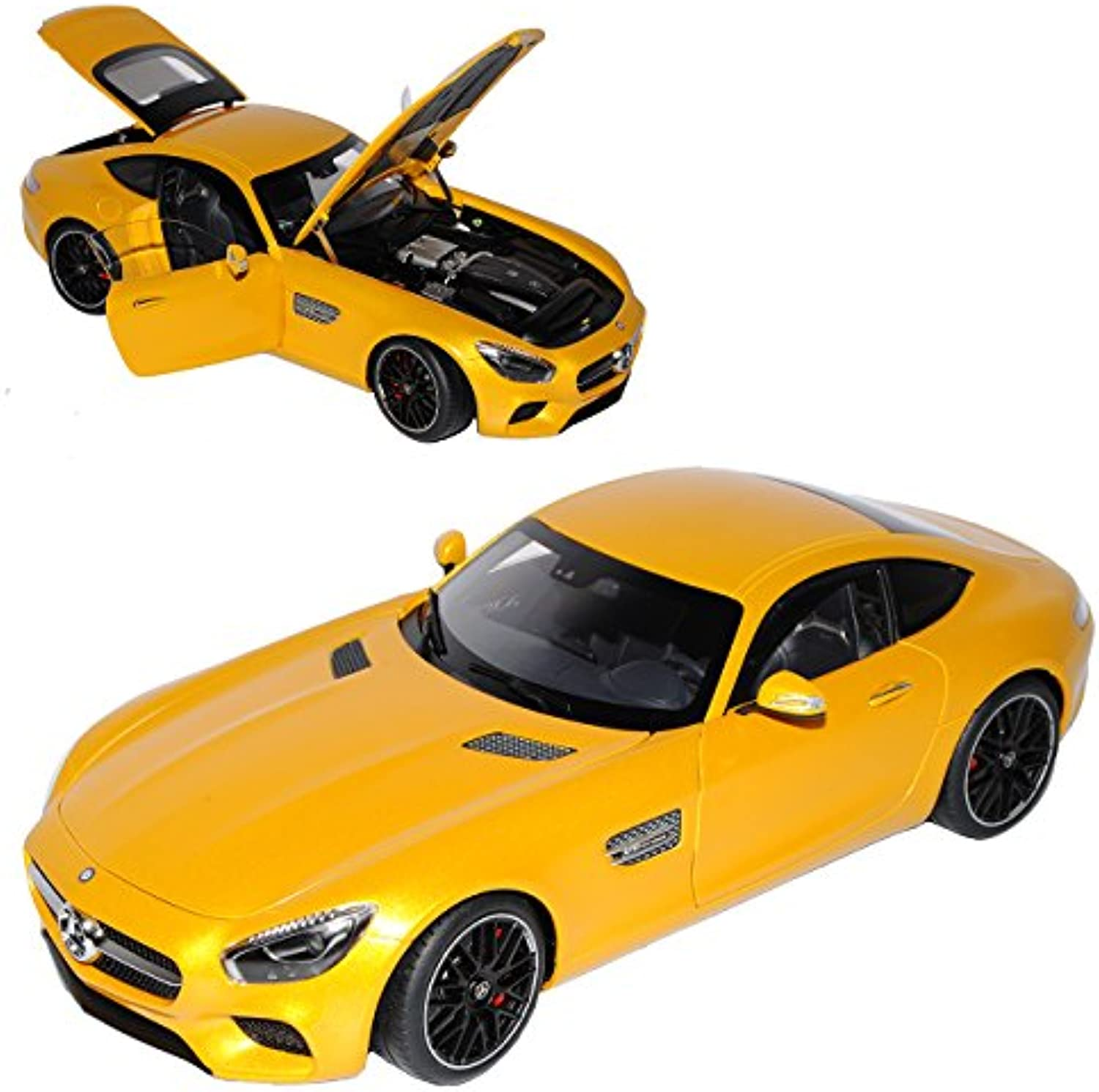 AUTOart Mercedes-Benz AMG GT S Solarbeam Gelb 2015 76314 1 18 Modell Auto