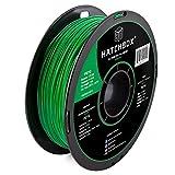 HATCHBOX PETG 3D Printer Filament, Dimensional Accuracy +/- 0.03 mm, 1 kg Spool, 1.75 mm, Green (3D PETG-1KG1.75-GRN)