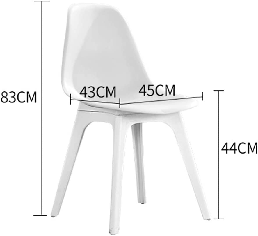 WDX- Chaise de salle, Chaise de bureau simple, créative Dossier, Chaise Loisirs, Maison adulte Chaise de salle mode (Color : Brown) Red