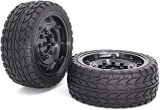 HONG YI-HAT 2PCS RC Tire 12 MM HUB Wheel &amp Tires for 1/10 Traxxas Axial SCX10 D9 Off-Road Remote Control Car Stroller T...