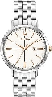 Bulova Women's Quartz Watch Metal Bracelet analog Display and Stainless Steel Strap, 98M130