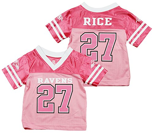 Baltimore Ravens NFL Ray Rice #27 Pink Infant Girls Jersey