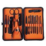 HETUI 15 Unids/Set Nail Art Manicure Tools Set Cortaúñas con Juego de uñas portátil Naranja
