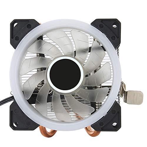 Mini enfriador de CPU, radiador de CPU, disipador de calor de CPU con cojinete de presión de agua, apto para 775/1150/1151/1155 / 1156/1366 (Aurora multicolor)
