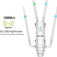 $129 Get WAVLINK Aerial HD4 AC1200 High Power Long Range Outdoor Wireless Access Point Weatherproof Dual Band 2.4+5G 1200Mbps Wi-Fi AP/WiFi Extender/Router 3 in 1 with PoE, Gigabit Port