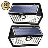 Mpow [2 Pezzi] Luce Solare PIR Sensore di Movimento, 3 modalità di Illuminazione, Impermeabile IP65, Luci Solari Esterni Grandangolare, Lampada Solare Esterno per Cortile/Garage/Giardino/ECC.