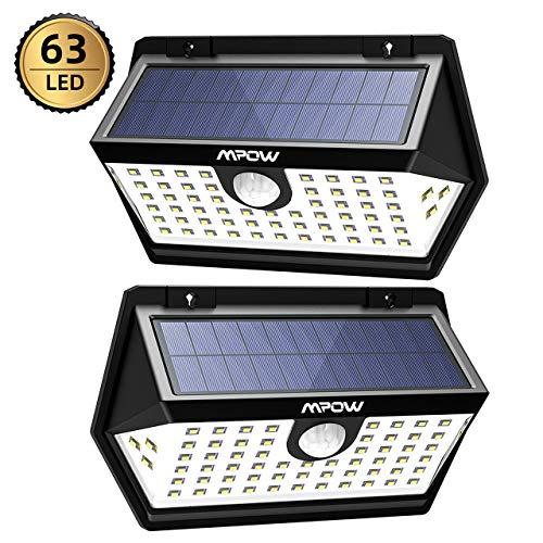 Mpow [2 Pezzi] Luce Solare PIR Sensore di...