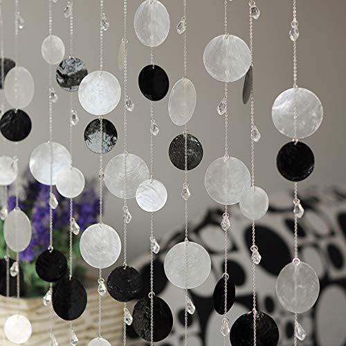 BLSTY Mehrfarbig Perlenvorhang, Dekoration Fadenvorhang Trennwand Fenster Vorhang für Wohnzimmer Terrasse Raumtrennung Perlenvorhang-100x180Cm(39x71Zoll)-F