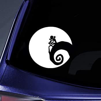 Mirror and More 10 x 10.8, White Mirror and More Motorcycle Sku: 488 Laptop Jack Skellington From Nightmare Before Christmas Decal Sticker for Car Window Walls Sku: 488 10 x 10.8 Yoonek Graphics