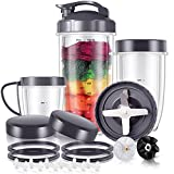21-Piece 32/24/18OZ Cups and Extractor Blade Set NutriBullet Replacement Parts NutriBullet Accessories Compatible with NutriBullet High-Speed Blender System 600W/900W Series