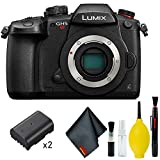 Panasonic Lumix DC-GH5S Mirrorless Micro Four Thirds Digital Camera Body - Cleaning Kit - Batteries DMW-BLF19 (2) & More