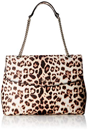 Guess Robyn Shoulder Bag, Borsa a Spalla Donna, Multicolore (Leopard), 13x26x34 cm (W x H x L)