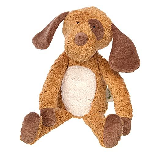 SIGIKID 39334 Kuscheltier Hund Green Mädchen und Jungen Babyspielzeug empfohlen ab Geburt braun/weiß