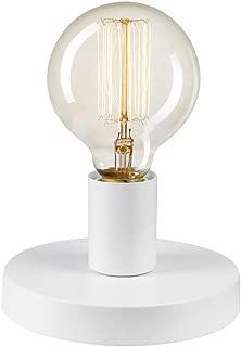 Novogratz x Globe 51333 Globe 3-in-1 1-Light Plug-In/Hardwire Wall Sconce/Flush Mount/Table Lamp, Satin White, 3.5