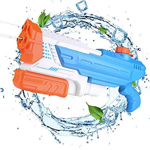EKKONG Pistola ad Acqua, 1400ml Getto Super Potente e 8-10M Lunga Gittata Giocattoli Pistole ad Acqua Water Guns per Giochi Perfetto Regalo per Bambini e Ragazzi