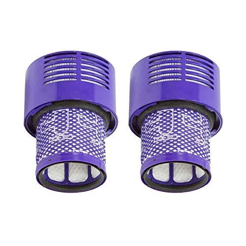 Unidad de filtro grande lavable adecuada para Dyson V10 Sv12 Cyclone Animal Absolute Total Clean Aspiradora inalámbrica, reemplace los accesorios de las barredoras de filtro (Color: 2 piezas)