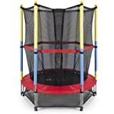 eHomeKart Trampoline for Kids - Perfect for Exercise and Jumping - Can Support Upto 60 Kg - for Home/Indoor and Outdoor - Suitable Age : 2 Years Onwards - Assembly Required (54 INCH with NET)