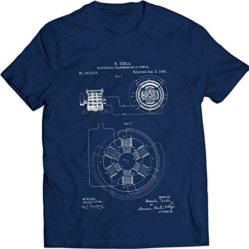 DTG Printing Tesla Electricial Transmission Patentar Camiseta 100% Algodón