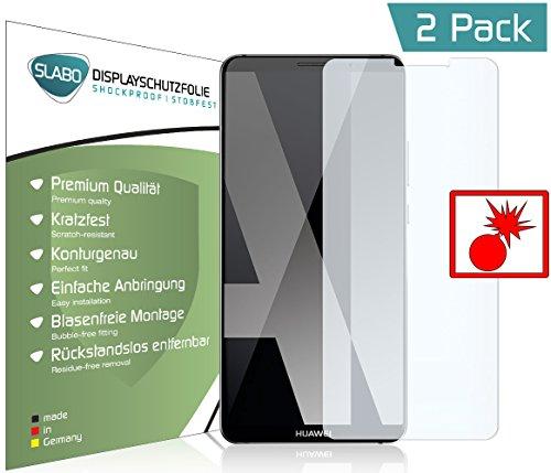 Slabo 2 x Pellicola Protettiva di Schermo Alta Protezione per Huawei Mate 10 PRO Shockproof Antirottura