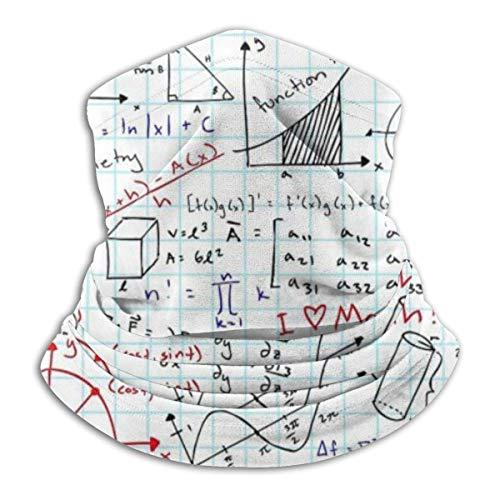 Xian Shiy Math Formula Winterhüte Fleece Neck Warmer Gesichtsmaske Neck Scarf NWM-228