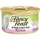 Purina Fancy Feast Pate Wet Kitten Food, Tender Turkey Feast - (24) 3 oz. Cans