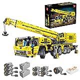 LOTSOFUN Grúa técnica para camiones RC+APP, grúa de carga pesada con 8 motores, 4 canales, kit de construcción compatible con Lego Technic – 3711 piezas