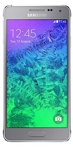 Samsung Galaxy Alpha (11,90 cm (4,7 Zoll) Super-AMOLED-Display, Octa-Core-Prozessor, 12-Megapixel-Kamera, Android 4.4) silber [T-Mobile Branding]