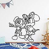 wZUN Pegatinas de Pared de ratón Familiar Personalidad Creativa Pegatinas de Pared a Prueba de Agua decoración de Arte decoración del hogar 33X33cm