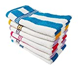 Mythos Striped Hand Towels High Absorbent for Kitchen Men and Gym 11 Inch