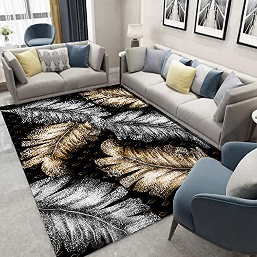 Retro-Bedruckter Teppich Im Europäischen Stil Dicke wasserdichte Und rutschfeste Bodenmatte Geeignet Für Schlafzimmer Flur Wohnzimmer