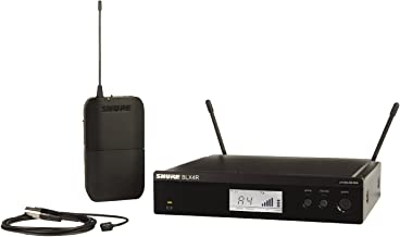 Shure BLX14R/W93 Lavalier Wireless System with WL93 Lavalier Microphone, Rack Mount, H10