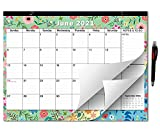 2021-2022 Large Monthly Desk Pad Calendar Planner Academic, Floral Design with Magnets for Fridge, Large January 2021 to June 2022 Wall Calendar 17.3' x 13.2''