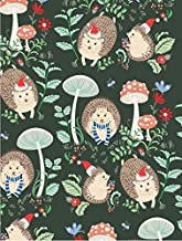 Hedgehog Christmas Wrapping Paper Roll, 2 feet x 20 feet Whimsical Rolled Christmas Gift Wrap, WRAP & Revel® R