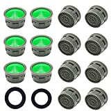 AQSXO Faucet Aerator, Faucet Flow Restrictor Replacement Parts Insert Sink Aerator for Bathroom or Kitchen fittings (20pcs)