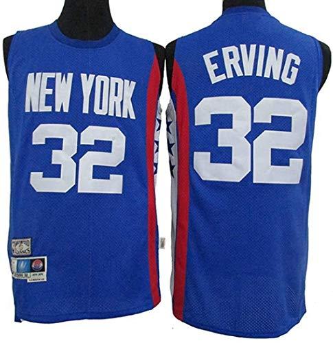 XSJY Jersey De Baloncesto De Los Hombres - NBA Retro New York Knicks # 32 Julius Erving Jersey, Camiseta Sin Mangas con Malla Transpirable,A,M:170~175cm/65~75kg